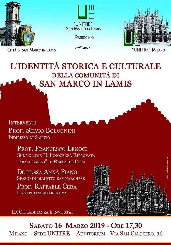 L'identità storica e culturale della Comunità Sammarchese narrata a Milano