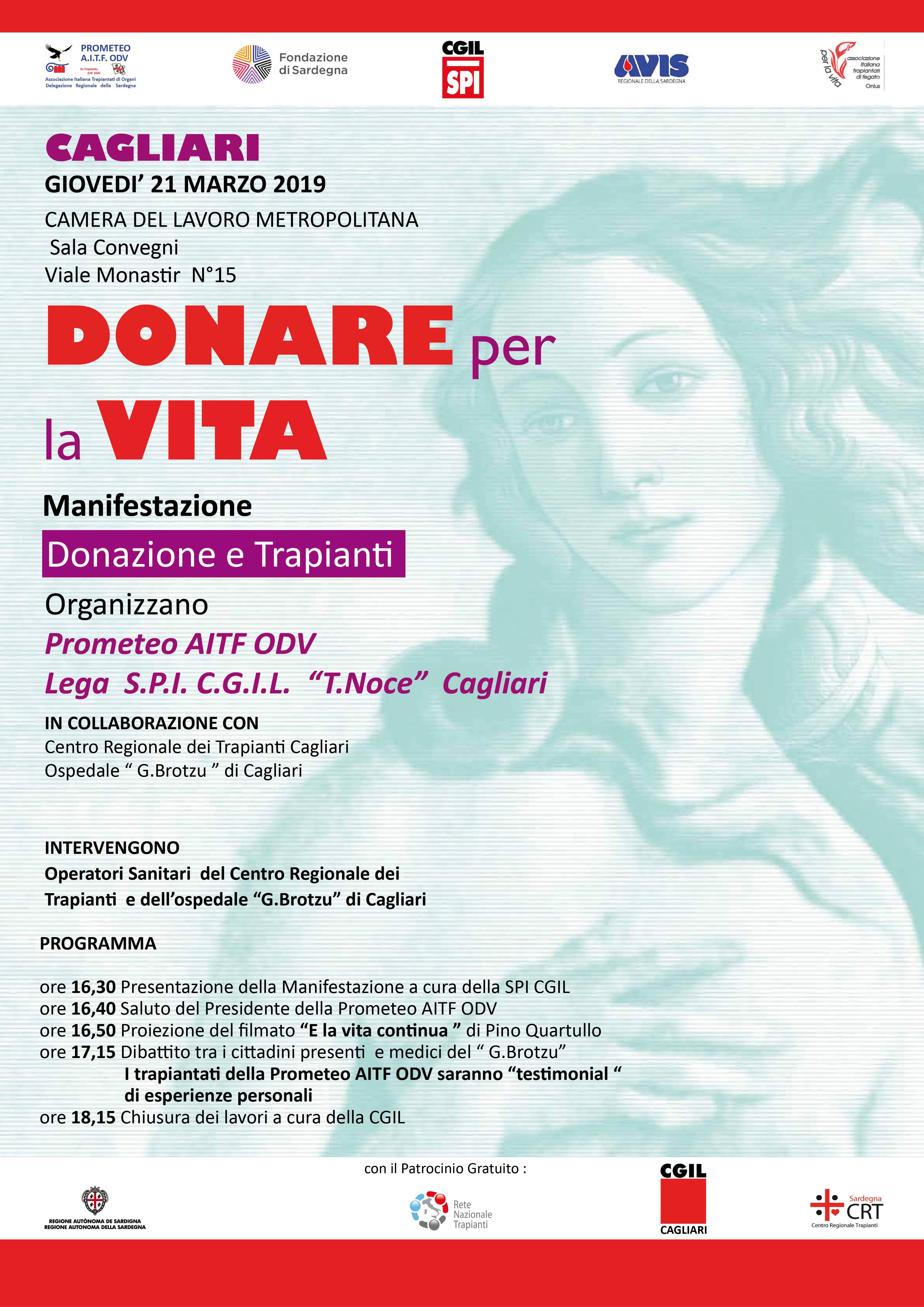 INCONTRO A CAGLIARI SU DONAZIONE E TRAPIANTO DI ORGANI