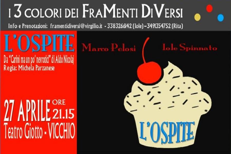 """""""L'ospite"""" al teatro di Vicchio, (FI) ha riscosso il successo che meritava"""