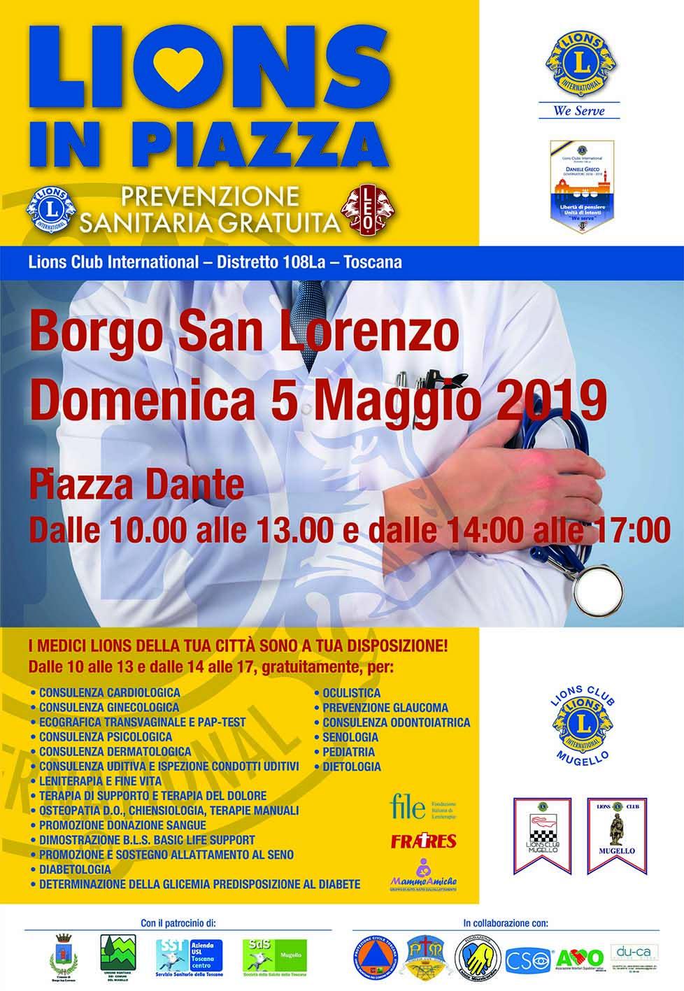 """A Borgo san Lorenzo (FI) il 5 maggio """"Medici in Piazza"""". Visite gratuite e screening per promuovere la salute"""