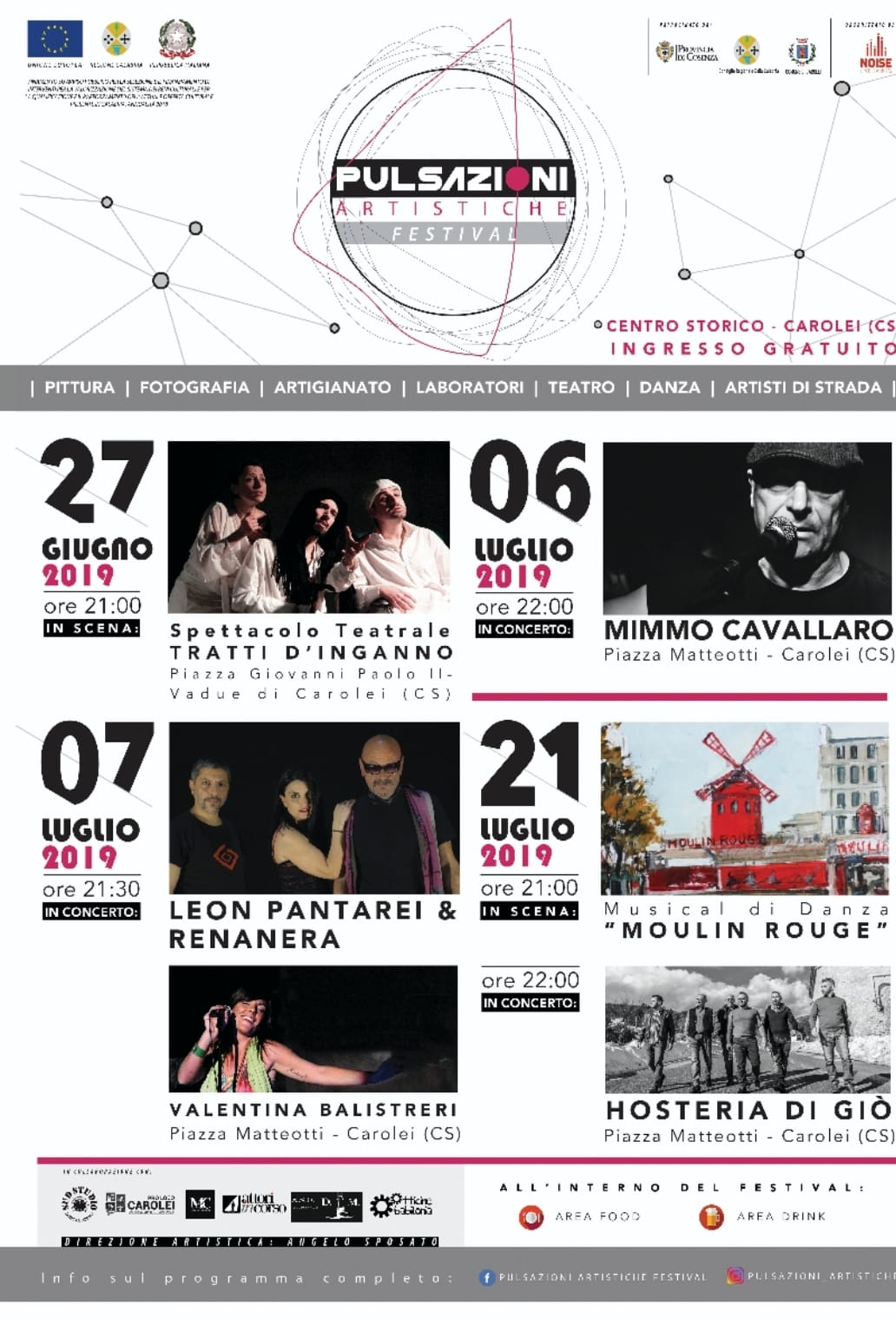 Pulsazioni Artistiche Festival a Carolei piccolo borgo in provincia di Cosenza