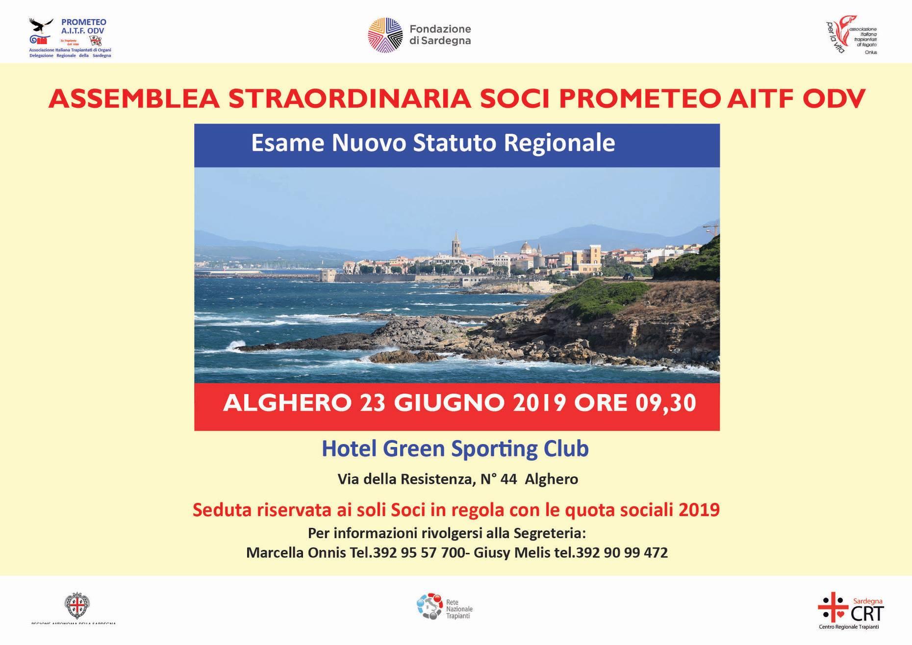 AD ALGHERO L'ASSEMBLEA STRAORDINARIA DEI SOCI DELLA PROMETEO