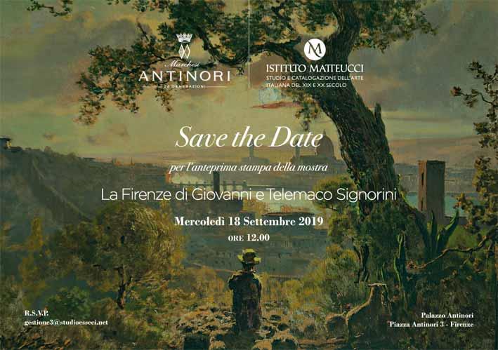 LA FIRENZE DI GIOVANNI E TELEMACO SIGNORINI 19 settembre – 10 novembre 2019 Firenze, Palazzo Antinori, Piazza Antinori