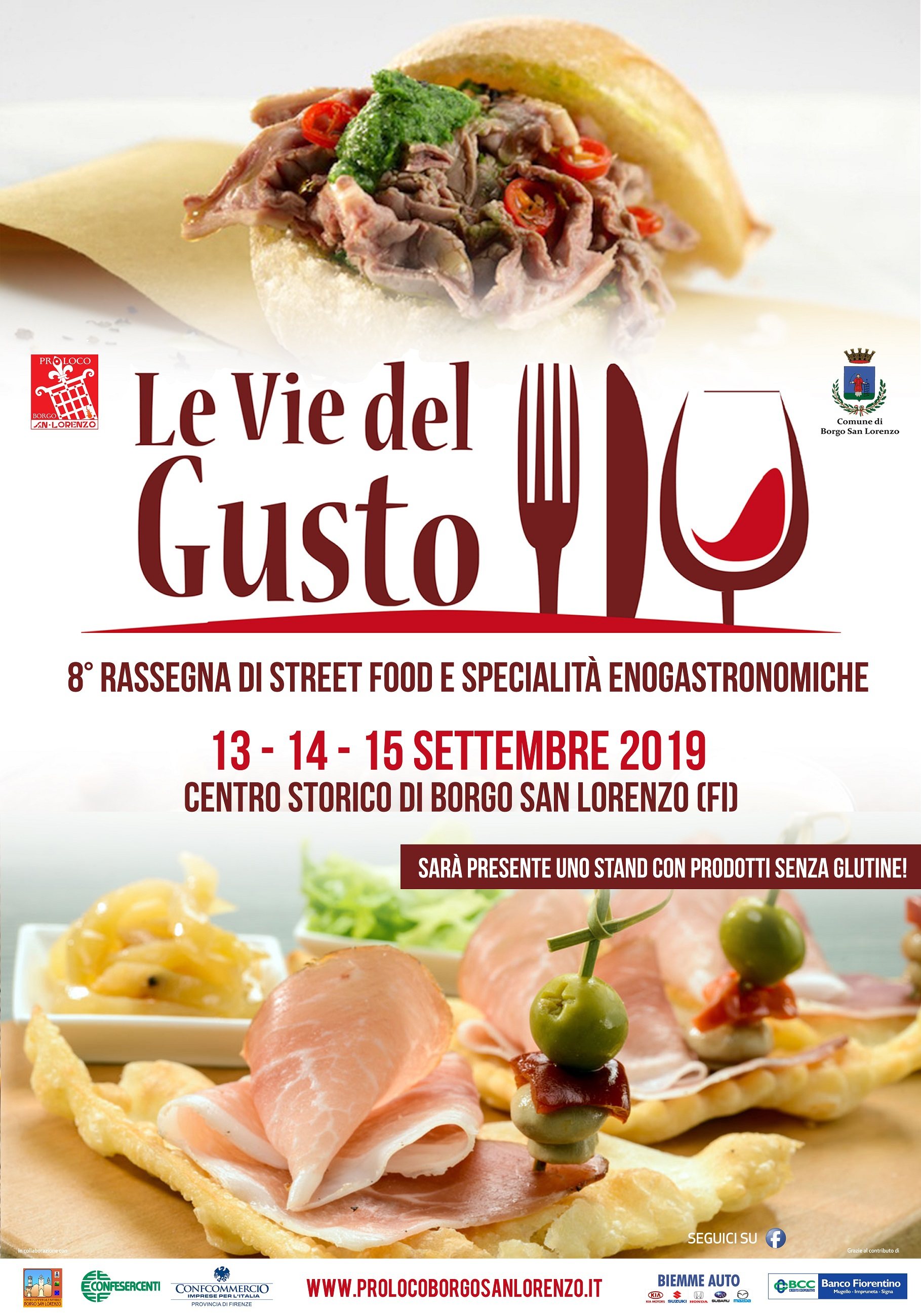 """Borgo S.Lorenzo si prepara per """"Le Vie del Gusto"""" 2019. Da venerdì a domenica sarà invaso da profumi e sapori dall'Italia e dal mondo"""