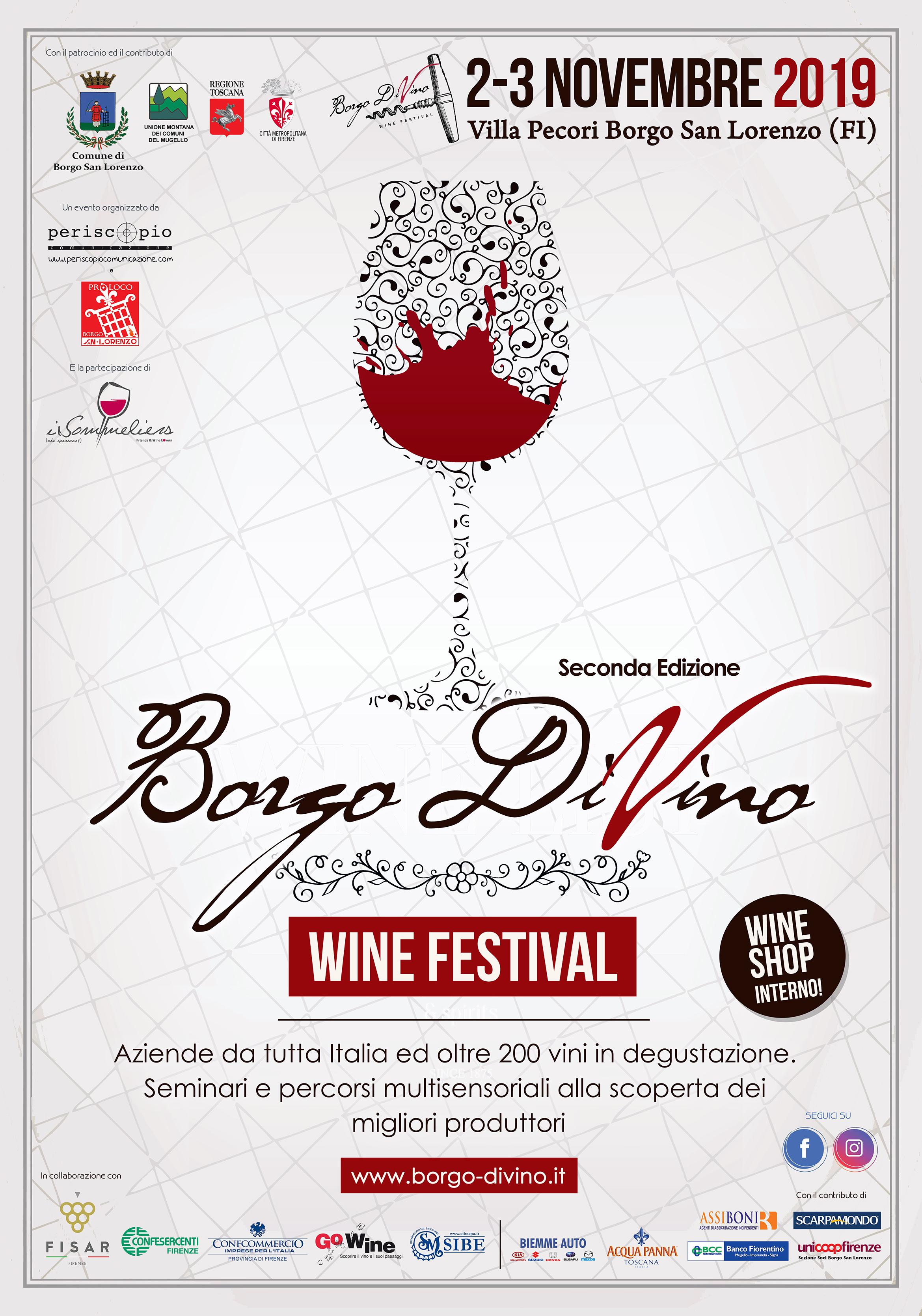 """Borgo S. Lorenzo mette in mostra sua maestà il vino. Il 2-3 novembre II° edizione di """"Borgo DiVino"""""""