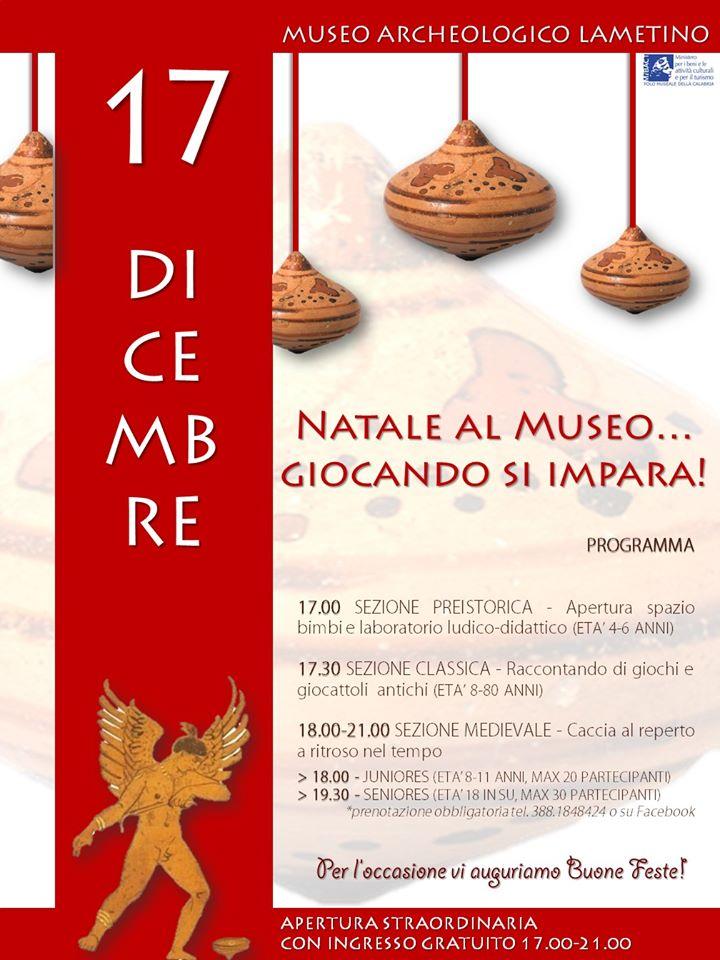 A Lamezia Terme: NATALE AL MUSEO…Giocando si impara!