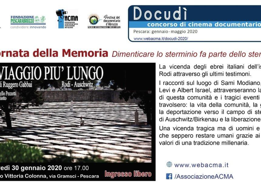 Pescara: Giornata della Memoria giovedì 30 gennaio