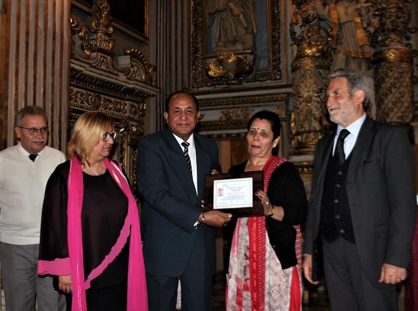 Invito dall'India per Goffredo Palmerini, ospite ad un evento culturale