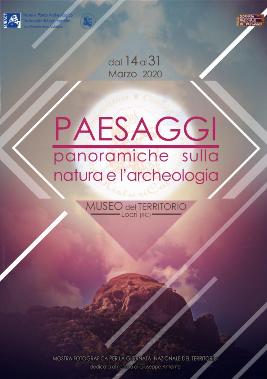 """Locri, mostra fotografica """"Paesaggi: panoramiche sulla natura e sull'archeologia"""""""